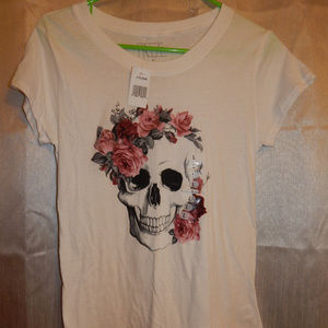 Floral Skull Graphic Shirt